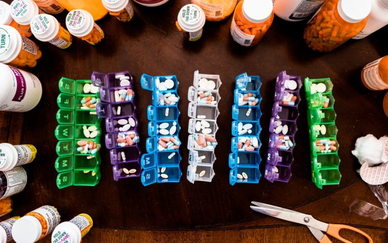 medications in the waiting room